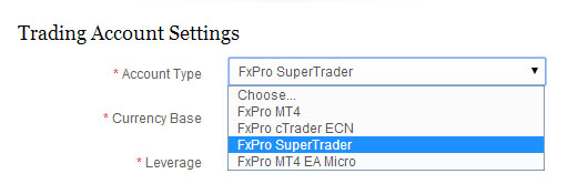 Fxpro supertrader login